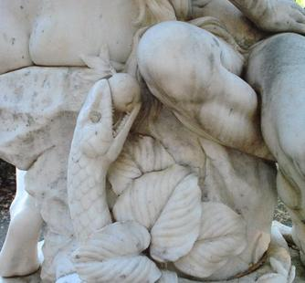 Detail from one of the statues in the Italianate Garden